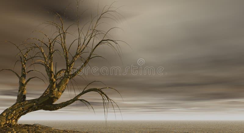 Gruseliger Baum lizenzfreie abbildung
