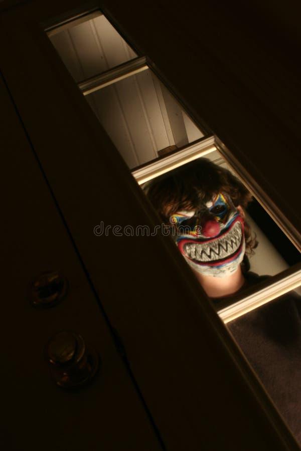 Gruseliger Clown lizenzfreie stockfotos