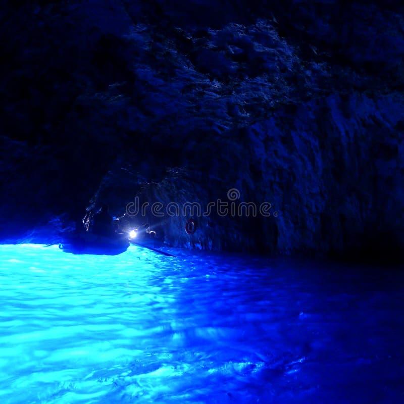 Gruta azul, Capri, Itália fotos de stock royalty free