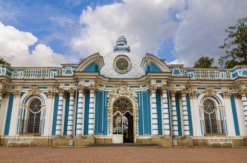 Gruta del pabellón en Catherine Park Tsarskoye Selo, St Petersburg imagenes de archivo