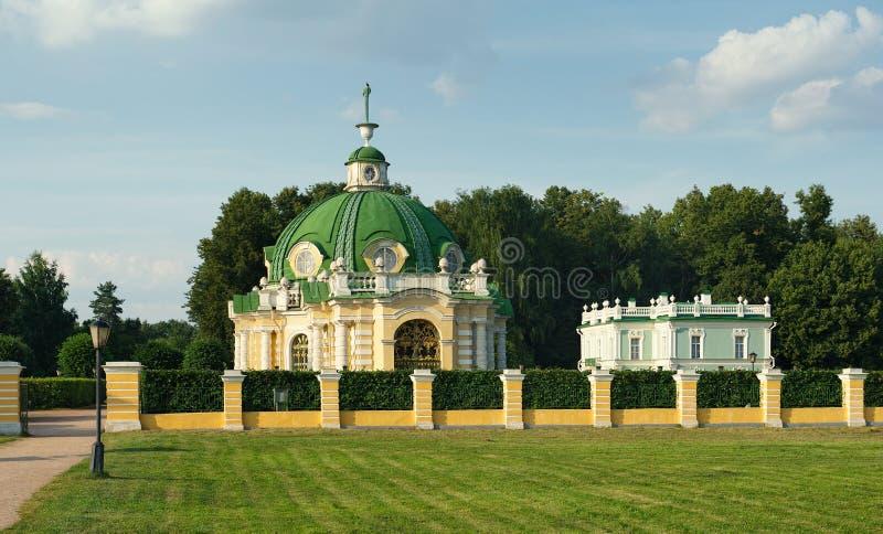 Gruta y casa italiana, señorío Kuskovo foto de archivo libre de regalías