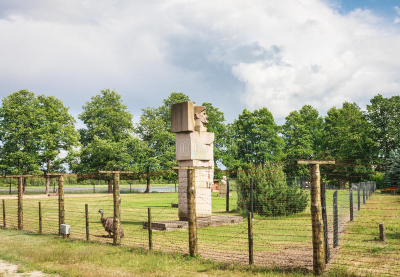 Grutas park Zabytki Radziecki okres zdjęcie stock