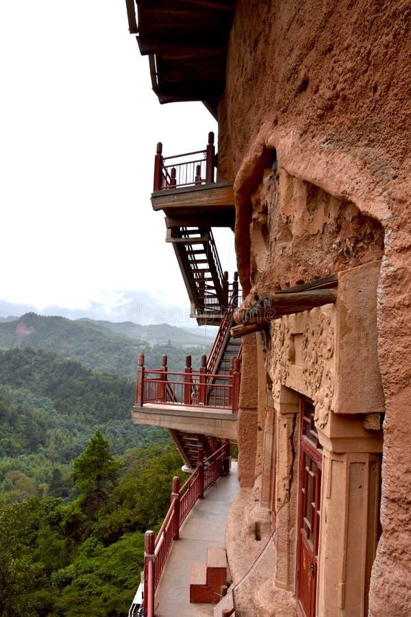 Grutas parque nacional de Maijishan, Tianshui, China foto de stock royalty free