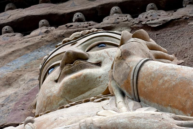 Grutas parque nacional de Maijishan, Tianshui, China imagens de stock royalty free
