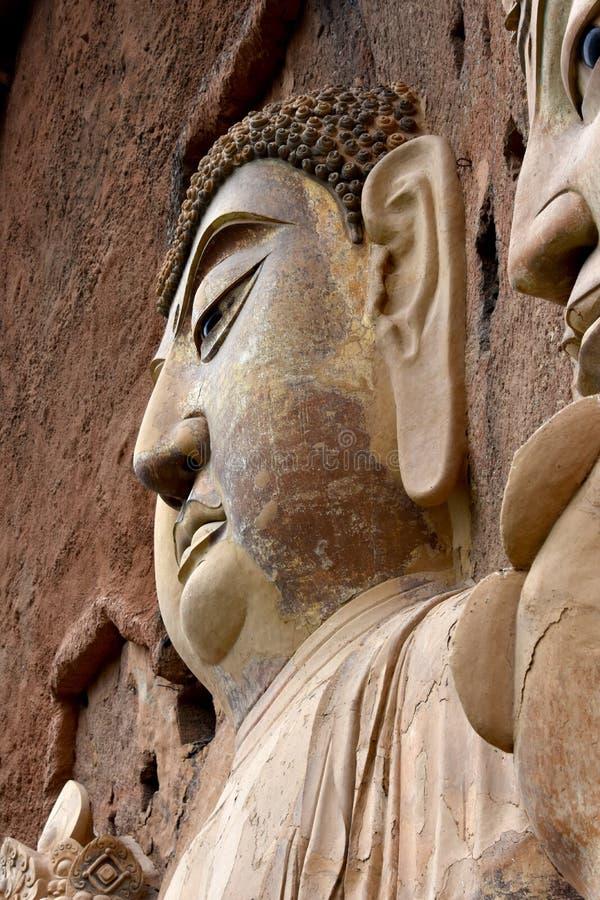 Grutas parque nacional de Maijishan, Tianshui, China fotos de stock royalty free