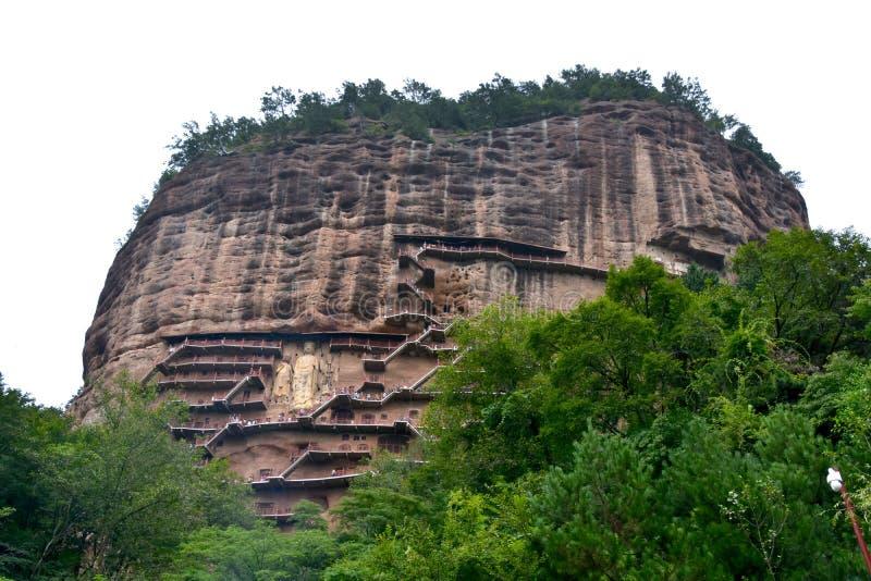 Grutas parque nacional, Tianshui, China de Maijishan imagen de archivo libre de regalías