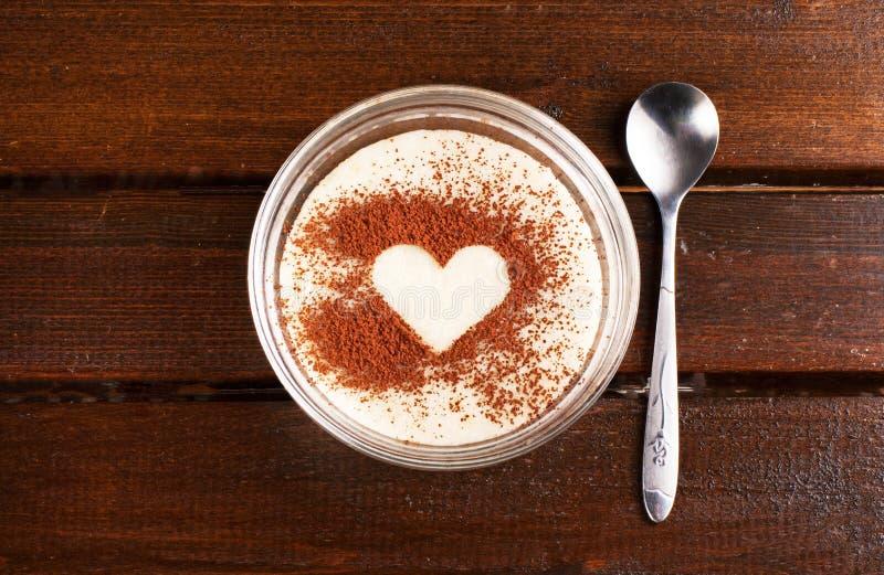 Grutten met cacao royalty-vrije stock foto