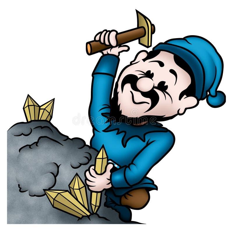 gruvarbetareälva royaltyfri illustrationer