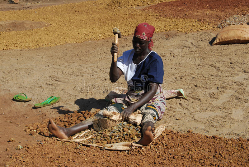 gruvarbetarekvinna royaltyfri fotografi