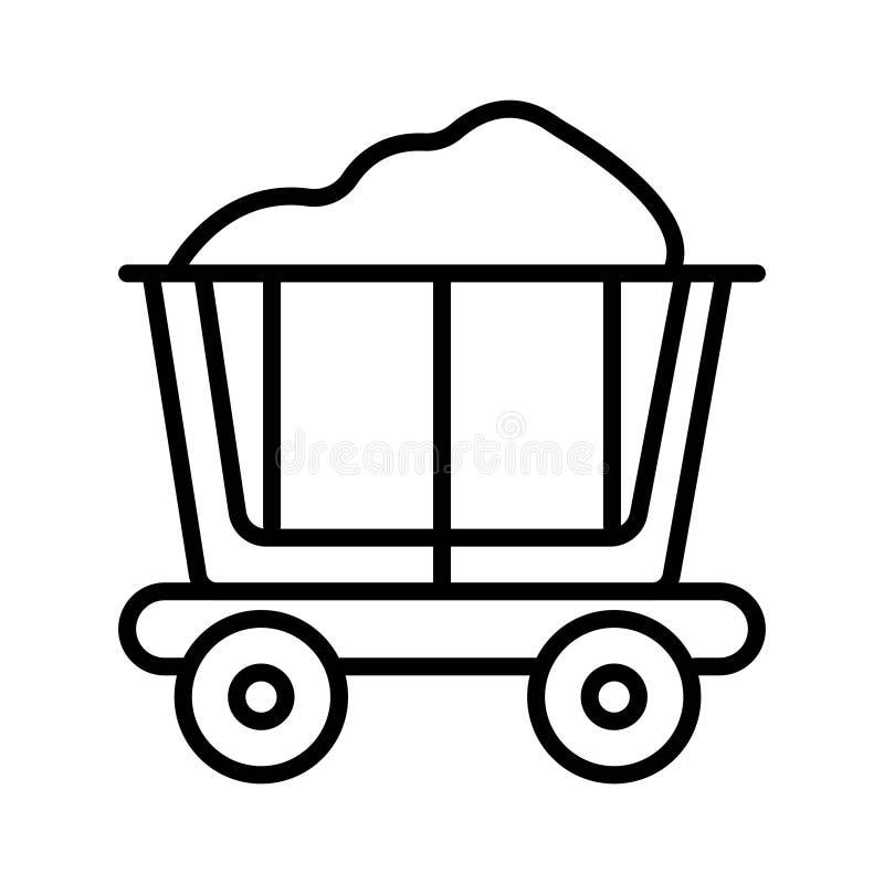 Gruvarbetaren carts vektorn vektor illustrationer