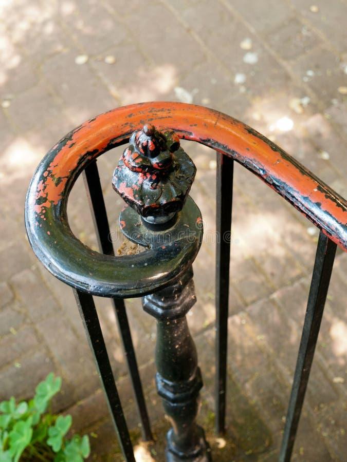 Gruw IJzer Stair Baluster Decoratief Hand Forged royalty-vrije stock foto