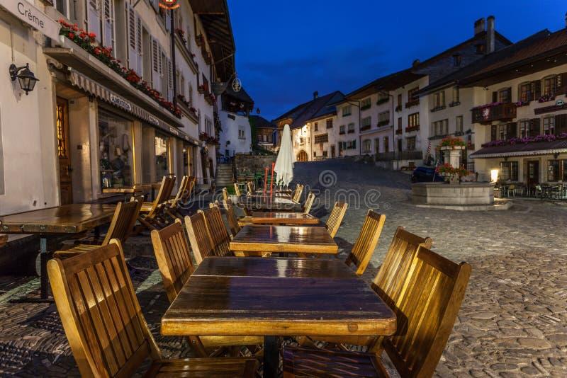Gruyère do La do castelo, Switzerland imagens de stock royalty free