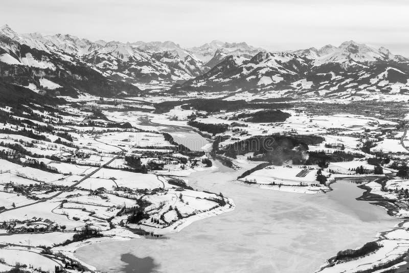 Gruyere lake in Canton Fribourg, Switzerland stock image