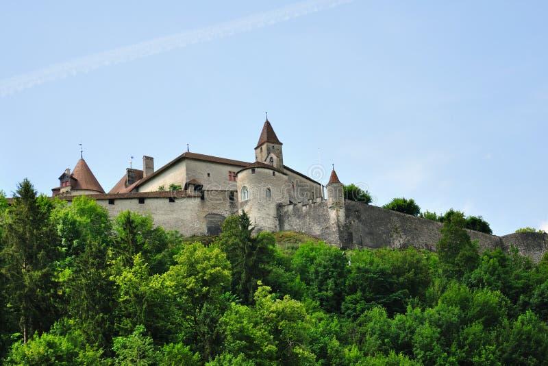 gruyeres Швейцария замока стоковая фотография rf
