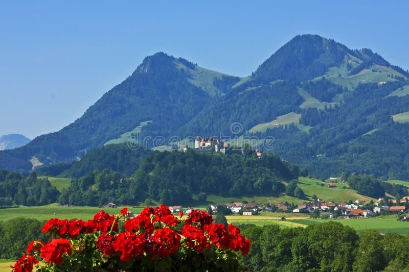 Gruyeres, die Schweiz lizenzfreies stockfoto