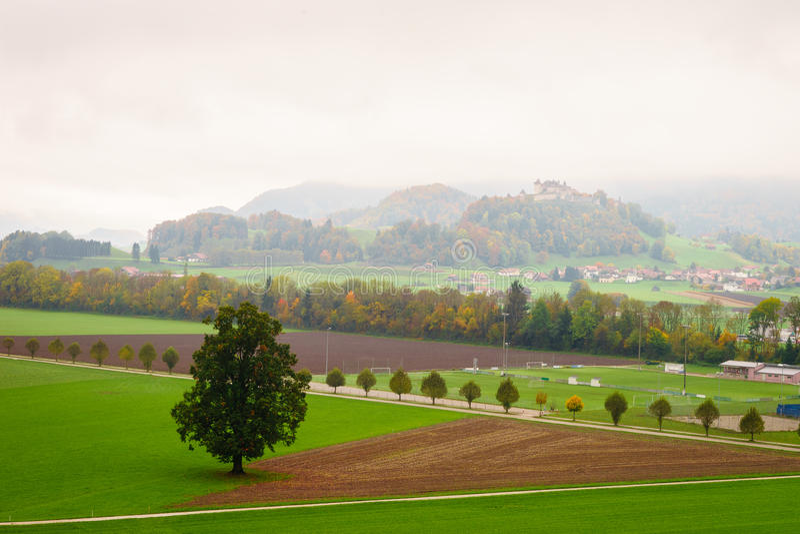 Gruyeres, die Schweiz stockfotografie