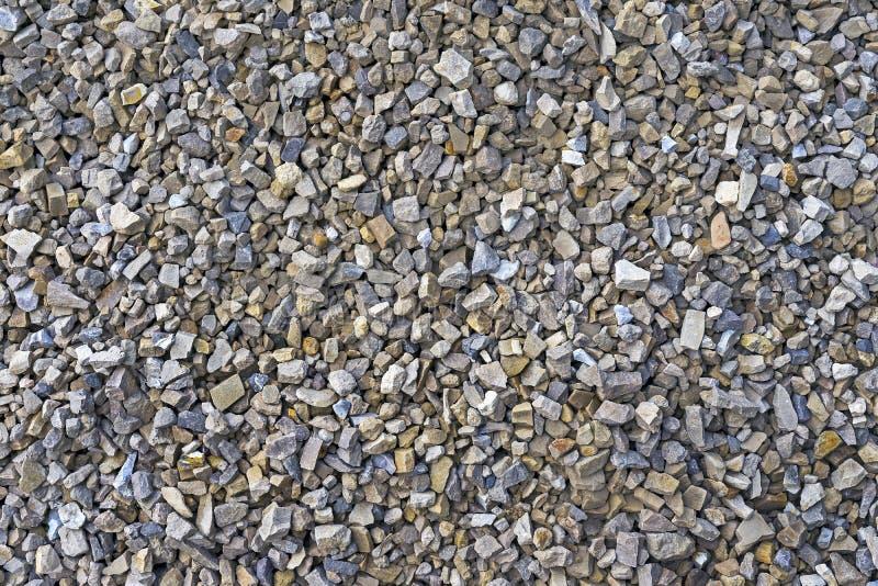 gruz Tekstura i tło zdruzgotany kamień, otoczaki, żwir zmia?d?ona kamieniem zdjęcie royalty free