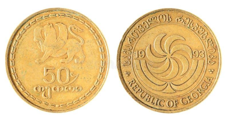 Gruzińska stara moneta zdjęcia stock