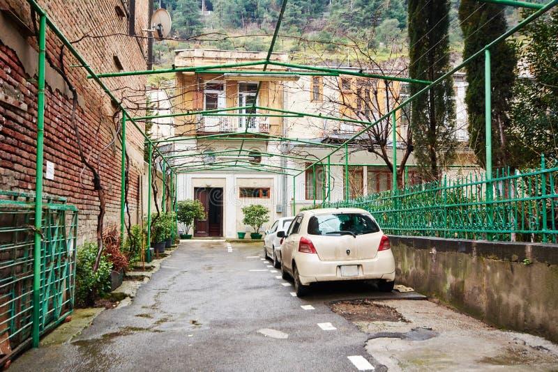 Gruzińska ulica i jard obrazy stock