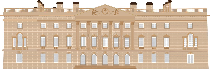 Gruziński Dostojny dom royalty ilustracja
