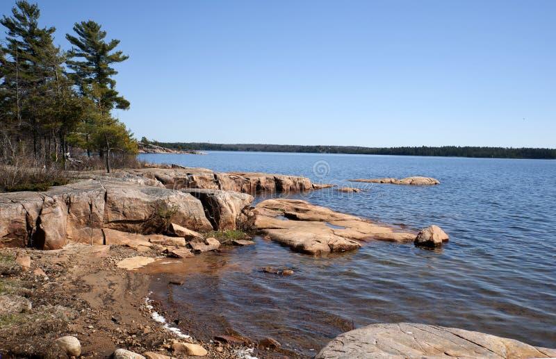 Download Gruzińskiej Zatoki Krajobraz W Ontario, Kanada Obraz Stock - Obraz złożonej z szorstki, niewygładzony: 53788879
