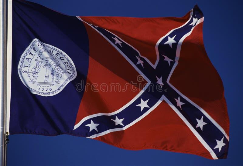 Gruzja Stan Flaga obraz stock