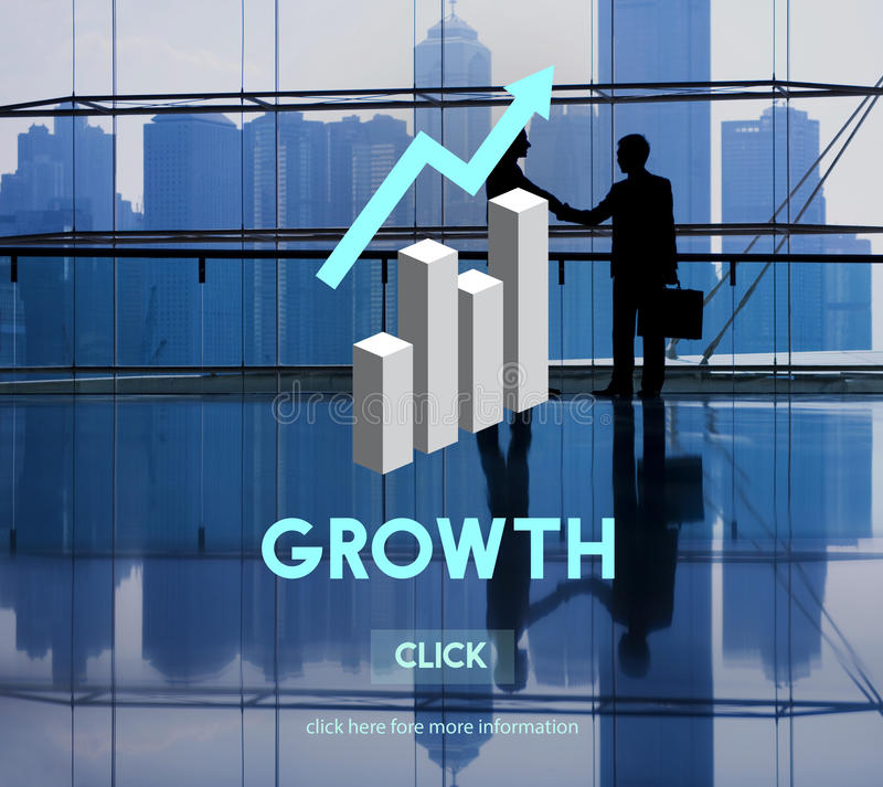 Grwoth Business Launch Success Improvement Concept royalty free illustration