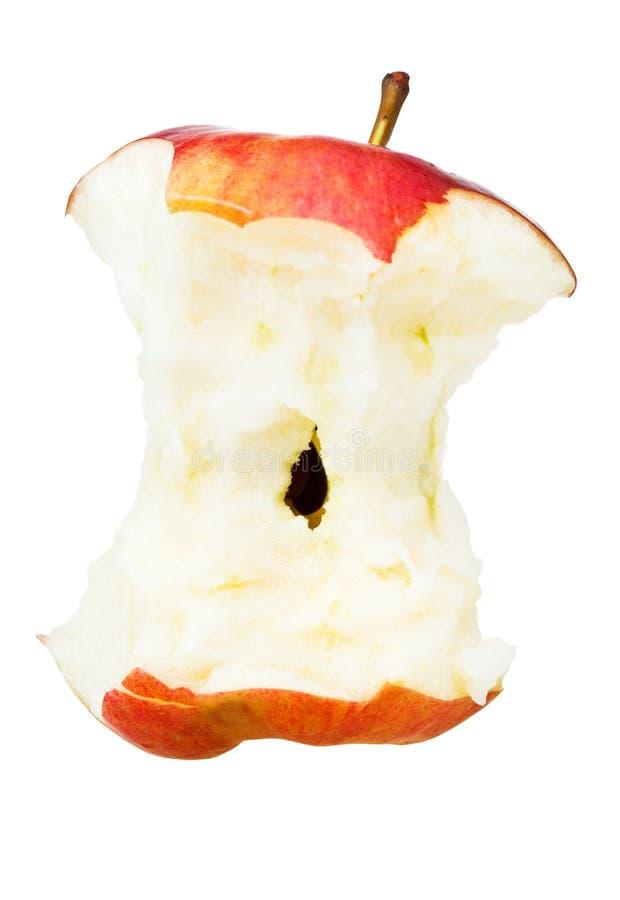 Gryźć zamożny jabłko fotografia stock