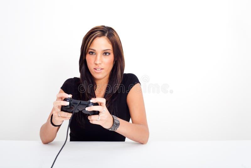 gry bawić się kobiet wideo potomstwa obraz royalty free