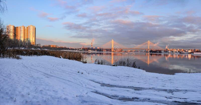 Gry i St Petersburg i området av fiske royaltyfria foton