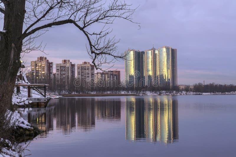 Gry i St Petersburg i området av fiske royaltyfri fotografi