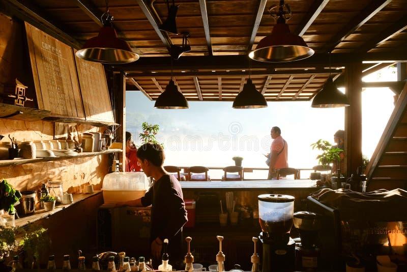 Gry på lävinkaffe, thai förbudrak arkivfoto