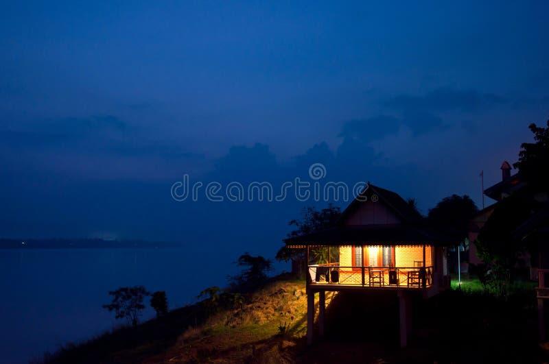 Gry tidplatsen på den Mekhong floden royaltyfria foton