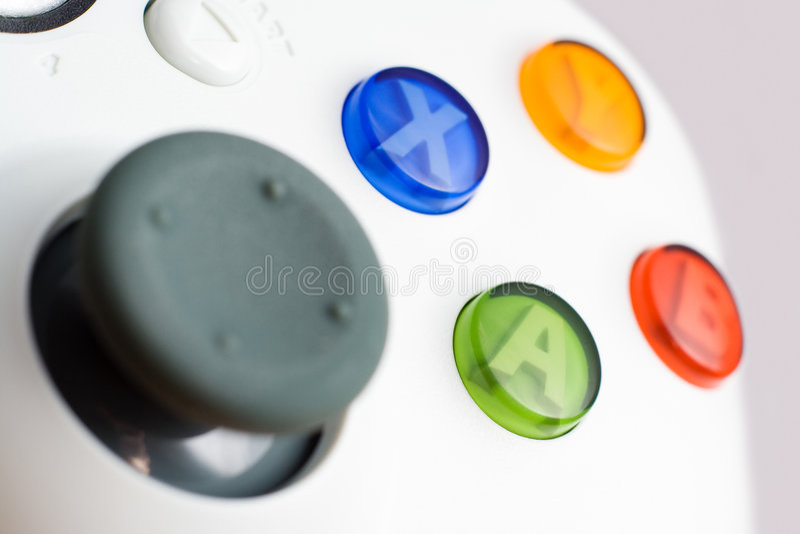 gry wideo szczegółów kontrolera zdjęcie stock