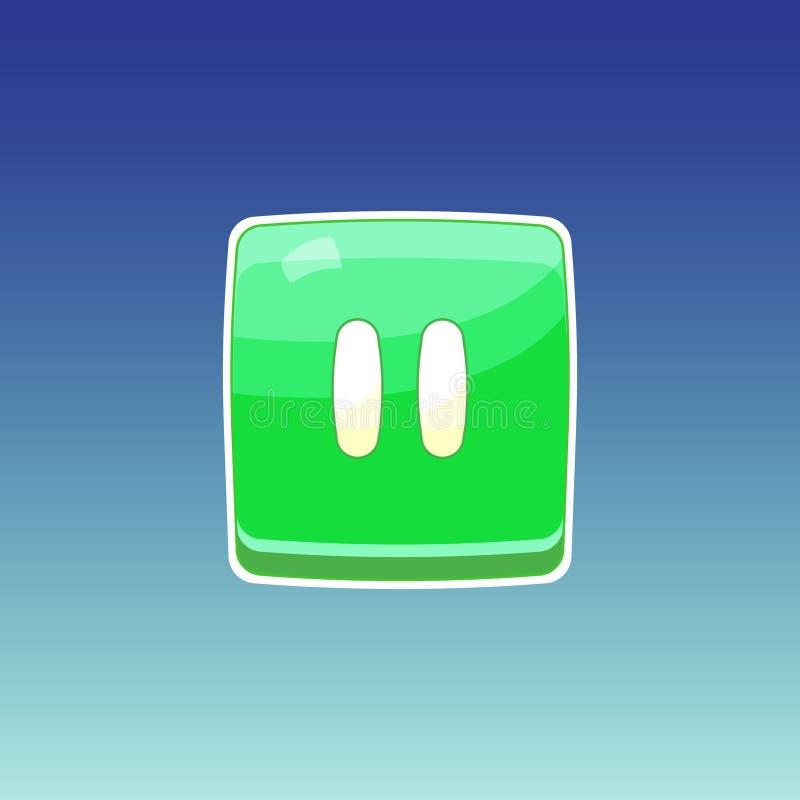 Gry zieleni guzik ilustracja wektor
