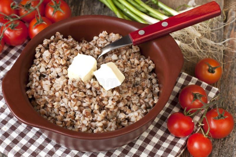 Download Gryczana Owsianka Z Masłem - Zdrowy łasowanie Zdjęcie Stock - Obraz złożonej z żywienioniowy, homemade: 53777258