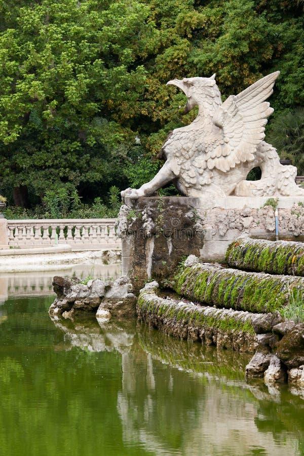 Gryf przy Parc De Los angeles Ciutadella w Barcelona zdjęcie royalty free
