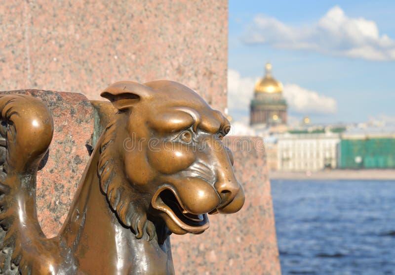 Gryf statua w St Petersburg zdjęcie royalty free