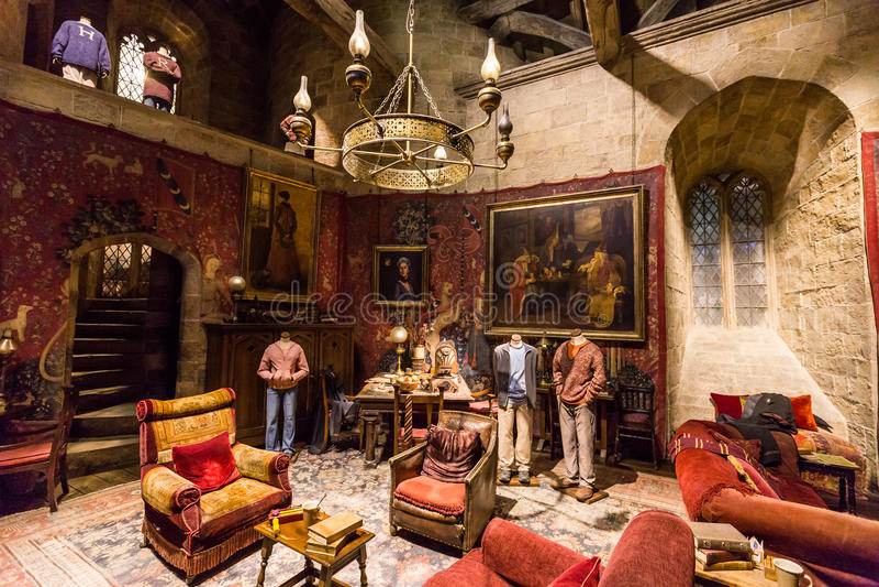 Gryffindor gemensamt rum royaltyfria foton