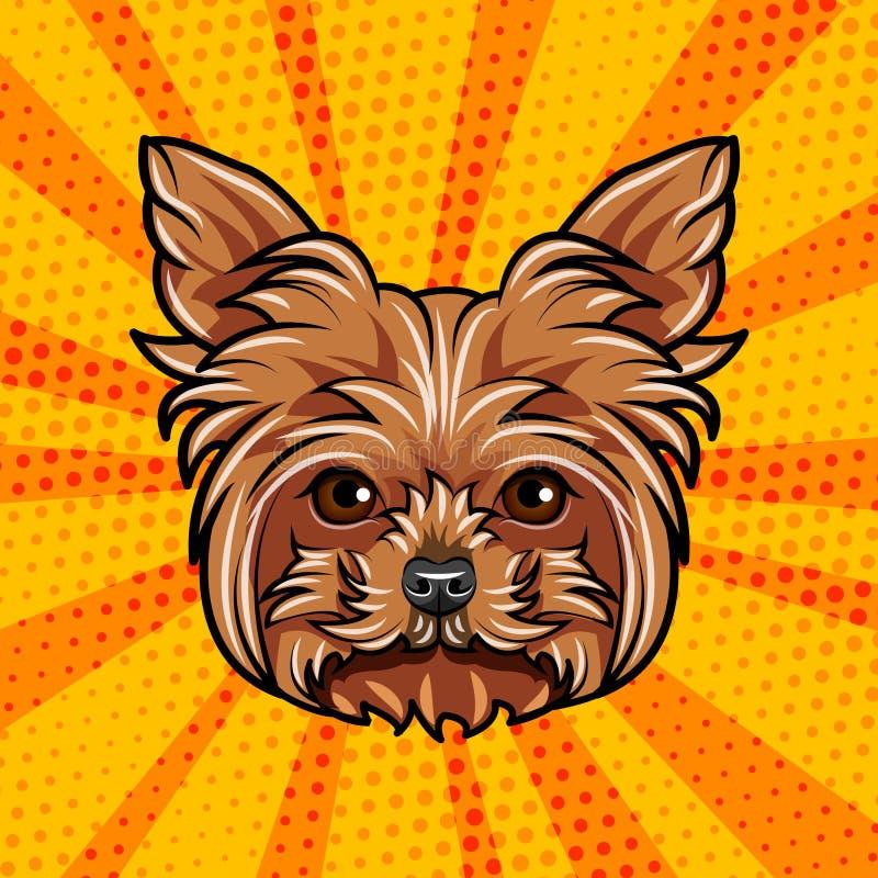 Gryfonu psi portret Psi traken Psia twarzy głowa wektor ilustracja wektor