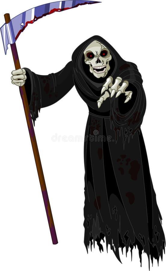 grym halloween reaper royaltyfri illustrationer