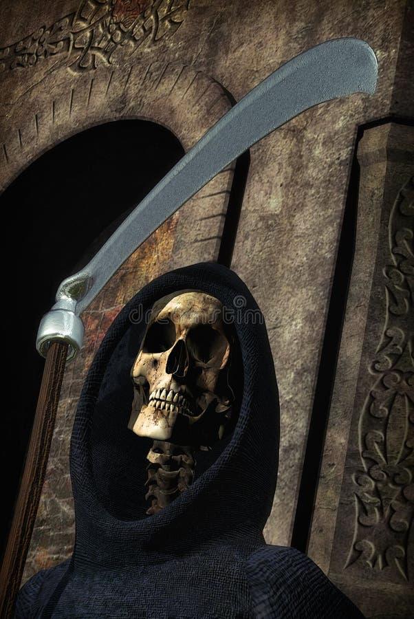 grym reaper för död vektor illustrationer