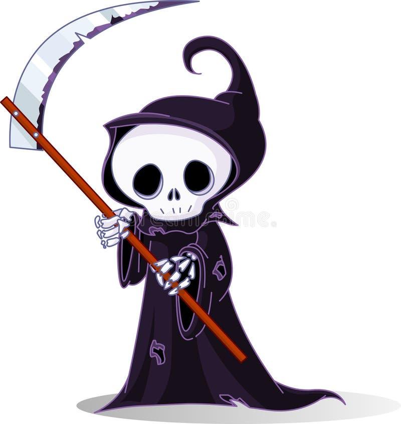 grym reaper för tecknad film vektor illustrationer