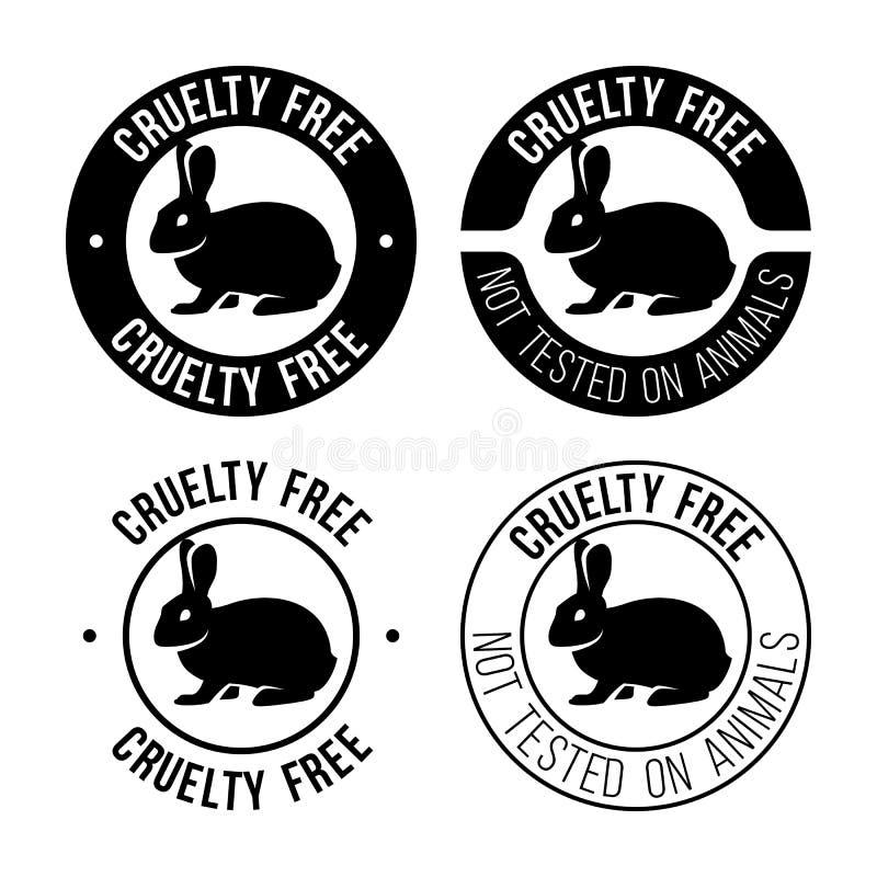 Grymhet frigör emblemet vektor illustrationer