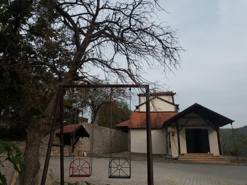 Gryning av den mest heliga Theotokos kloster arkivbild