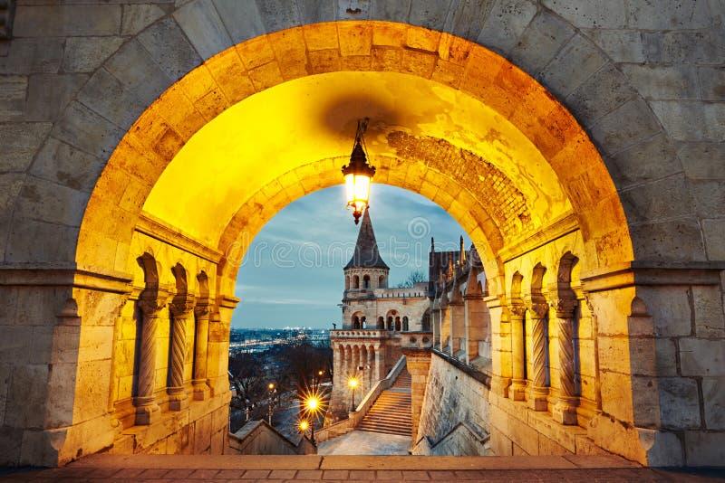 Gryning i Budapest royaltyfria bilder