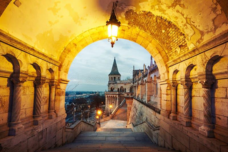 Gryning i Budapest royaltyfria foton