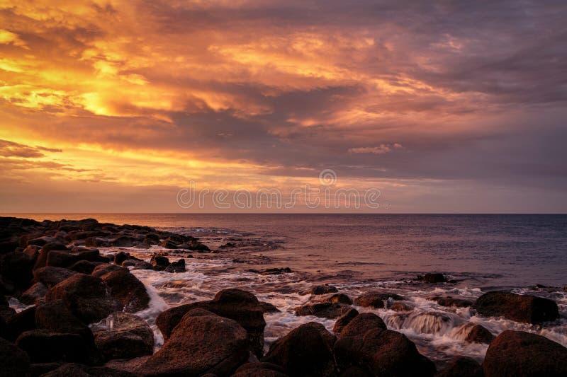 Gryning på portfen, Victoria, Australien, stor hav väg, Victoria, Australien royaltyfria foton