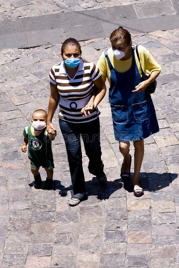 grypa chlewnie h1n1 Mexico obrazy royalty free