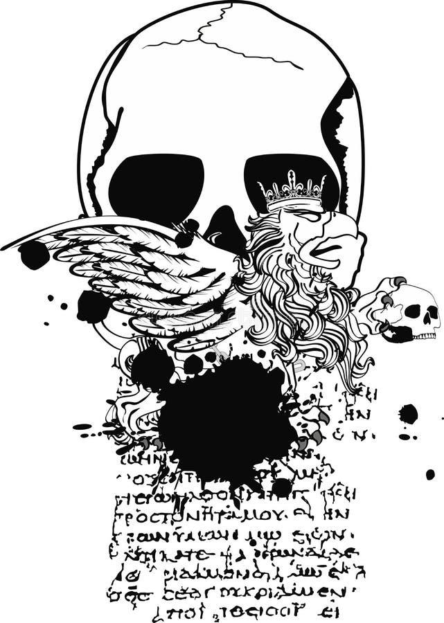 Gryphon-Wappen Tätowierung tshirt5 vektor abbildung